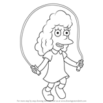How to Draw Janey Powell from The Simpsons