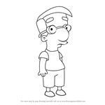 How to Draw Milhouse Van Houten from The Simpsons
