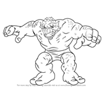 How to Draw Abomination from The Super Hero Squad Show