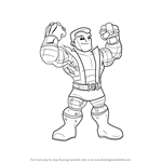 How to Draw Colossus from The Super Hero Squad Show