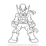 How to Draw Iron Fist from The Super Hero Squad Show