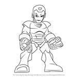 How to Draw Iron Man from The Super Hero Squad Show
