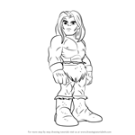 How to Draw Ka-Zar from The Super Hero Squad Show