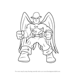How to Draw Nighthawk from The Super Hero Squad Show