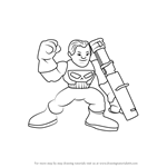 How to Draw Punisher from The Super Hero Squad Show