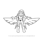 How to Draw Songbird from The Super Hero Squad Show