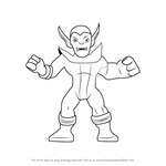 How to Draw Super Skrull from The Super Hero Squad Show