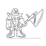 How to Draw Terrax from The Super Hero Squad Show