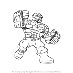 How to Draw The Thing from The Super Hero Squad Show