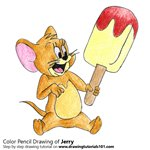 How to Draw Jerry from Tom and Jerry