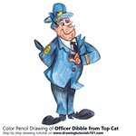 How to Draw Officer Dibble from Top Cat
