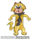 How to Draw Spook from Top Cat