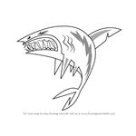 How to Draw Shark from Total Drama