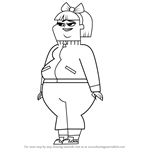 How to Draw Staci from Total Drama
