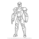 How to Draw Spyder Knight from Ultimate Spider-Man
