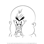 How to Draw Crazy Baby from Uncle Grandpa