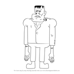 How to Draw Frankenstein from Uncle Grandpa