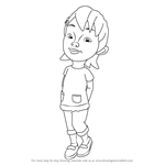 How to Draw Susanti from Upin & Ipin