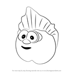 How to Draw The Peach from VeggieTales