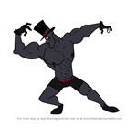 How to Draw Sexy Black Hat from Villainous