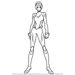 How to Draw Allura with Helmet from Voltron - Legendary Defender