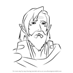 How to Draw King Alfor from Voltron - Legendary Defender