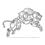 How to Draw Yellow Lion from Voltron - Legendary Defender
