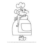How to Draw Miss Mush from Wayside
