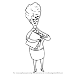 How to Draw Mrs. Drazil from Wayside