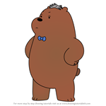 How to Draw Crowbar Jones from We Bare Bears