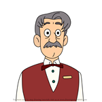 How to Draw Theater Manager from We Bare Bears