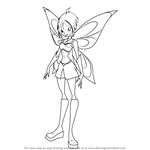 How to Draw Mirta from Winx Club