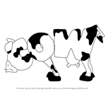 How to Draw Cow from WordWorld