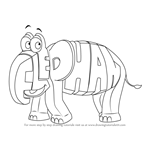 How to Draw Elephant from WordWorld