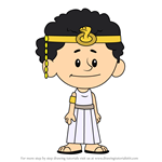 How to Draw Cleopatra from Xavier Riddle and the Secret Museum