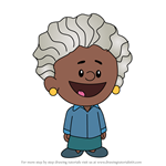 How to Draw Maya Angelou from Xavier Riddle and the Secret Museum
