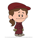 How to Draw Nellie Bly from Xavier Riddle and the Secret Museum