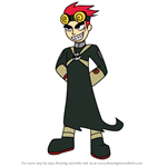 How to Draw Jack Spicer from Xiaolin Showdown