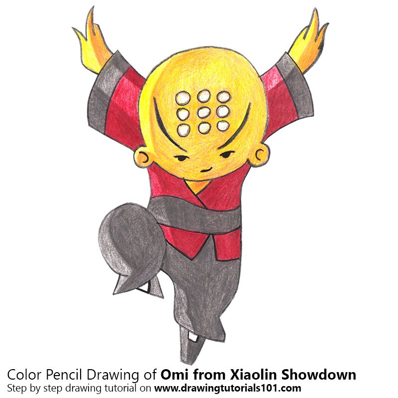 Omi from Xiaolin Showdown Color Pencil Drawing