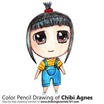 How to Draw Chibi Agnes from Despicable Me