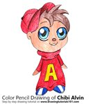 How to Draw Chibi Alvin from Alvin and the Chipmunks