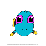How to Draw Chibi Baby Dory from Finding Dory
