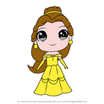 How to Draw Chibi Belle from Beauty and the Beast