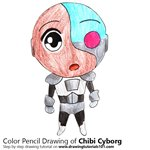 How to Draw Chibi Cyborg