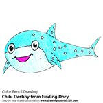 How to Draw Chibi Destiny from Finding Dory