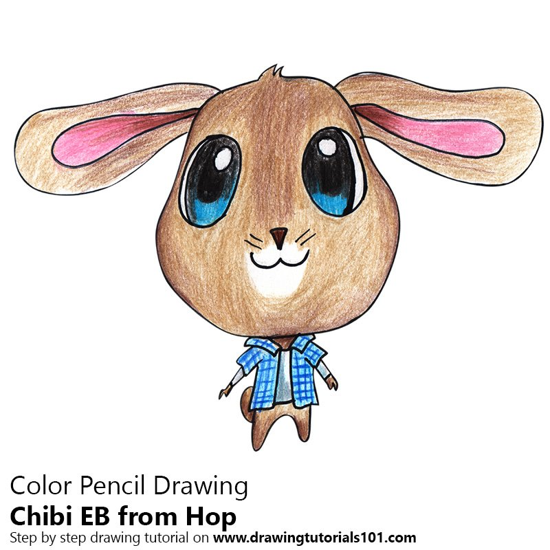 Chibi EB From Hop Color Pencil Drawing