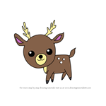 How to Draw Chibi Fawn from Gnomeo and Juliet