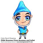 How to Draw Chibi Gnomeo From Gnomeo and Juliet