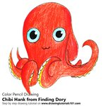 How to Draw Chibi Hank from Finding Dory
