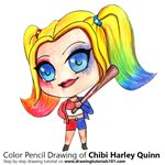 How to Draw Chibi Harley Quinn